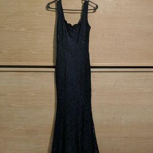 Jodi Kristopher Navy Blue Gown
